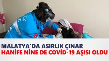Asırlık çınar Hanife Nine de Covid-19 aşısı oldu