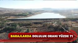Barajlarda doluluk oranı yüzde 71