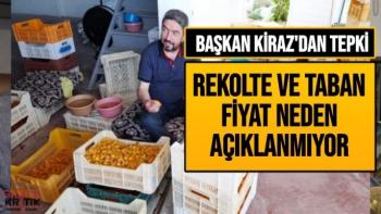 Başkan Kiraz'dan Tepki rekolte ve taban fiyat neden açıklanmıyor