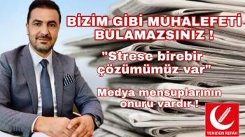 Başkan Yıldırım'dan Başkan Gürkan'a stres çay tavsiyesi