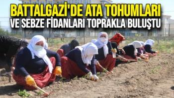 Battalgazi'de Ata tohumları ve sebze fidanları toprakla buluştu