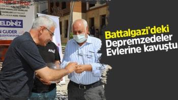 Battalgazi´deki depremzedeler evlerine kavuştu