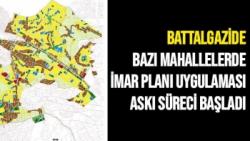 Battalgazide bazı mahallelerde imar planı uygulaması askı süreci başladı