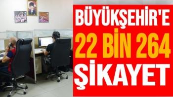 Büyükşehir'e 22 bin 264 şikayet
