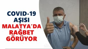Covid-19 aşısı Malatya´da rağbet görüyor