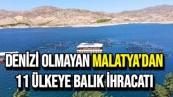 Denizi olmayan Malatya´dan 11 ülkeye balık ihracatı