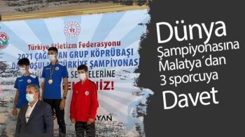 Dünya Şampiyonasına Malatya´dan 3 sporcuya davet