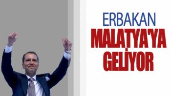 Erbakan Malatya'ya Geliyor
