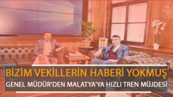 Genel Müdür'den Malatya'ya Hızlı Tren Müjdesi