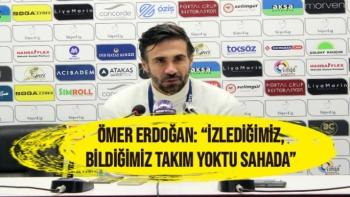 Hatayspor'da  Ömer Erdoğan'ın maç sonu açıklamaları