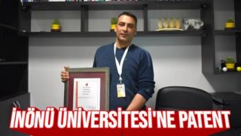 İnönü Üniversitesi'ne patent