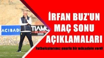 irfan Buz'un Galatasaray maçı sonrası açıklamaları