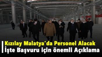 Kızılay Malatya'da Personel Alacak