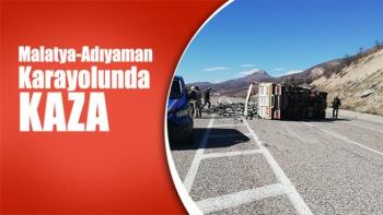 Malatya-Adıyaman Karayolunda kaza