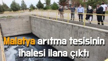 Malatya arıtma tesisinin ihalesi ilana çıktı