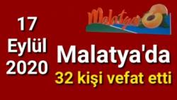 Malatya'da bugün vefat edenler