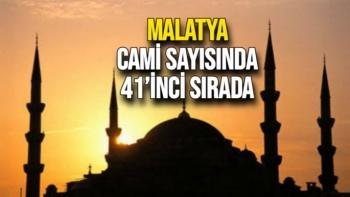 Malatya cami sayısında 41'inci sırada