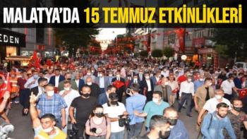 Malatya'da 15 Temmuz Etkinlikleri