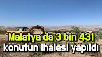 Malatya'da 3 bin 431 konutun ihalesi yapıldı