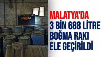 Malatya´da 3 bin 688 litre boğma rakı ele geçirildi