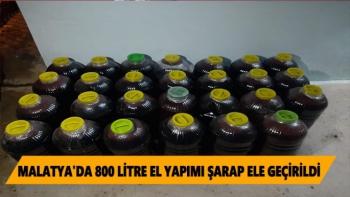 Malatya'da 800 litre el yapımı şarap ele geçirildi