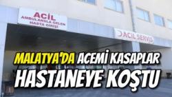 Malatya'da Acemi kasaplar hastaneye koştu