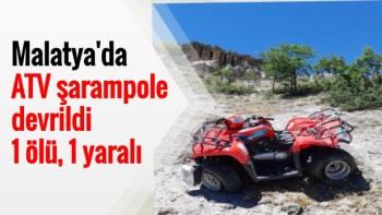 Malatya'da ATV şarampole devrildi, 1 ölü, 1 yaralı