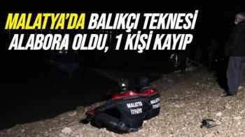 Malatya'da Balıkçı teknesi alabora oldu, 1 kişi kayıp