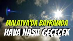 Malatya'da Bayramda Hava nasıl geçecek