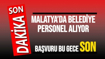 Malatya'da Belediye personel alıyor