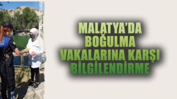 Malatya'da boğulma vakalarına karşı bilgilendirme