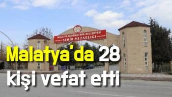 Malatya'da 28 kişi vefat etti