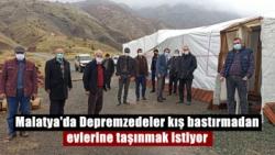 Malatya'da Depremzedeler kış bastırmadan evlerine taşınmak istiyor