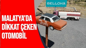 Malatya'da dikkat çeken otomobil