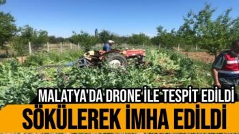Malatya'da Drone ile tespit edildi, sökülerek imha edildi