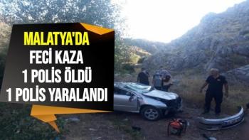 Malatya´da feci kaza 1 polis öldü, 1 polis yaralandı