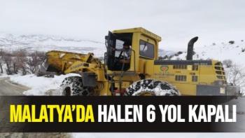 Malatya'da halen 6 yol kapalı