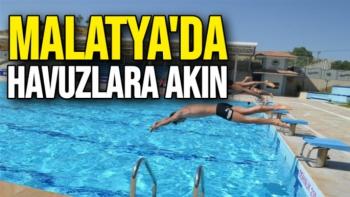 Malatya'da havuzlara akın