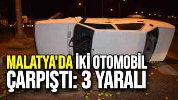 Malatya´da iki otomobil çarpıştı: 3 yaralı