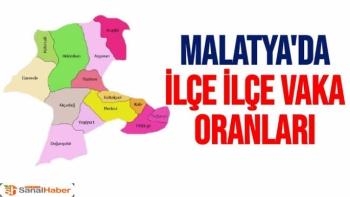 Malatya'da İlçe İlçe Vaka oranları