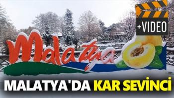 Malatya'da kar sevinci
