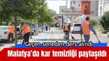 Malatya'da kar temizliği paylaşıldı