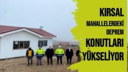 Malatya'da Kırsal mahallelerdeki deprem konutları yükseliyor