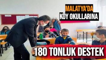 Malatya´da köy okullarına 180 tonluk destek