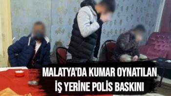 Malatya'da Kumar oynatılan iş yerine polis baskını