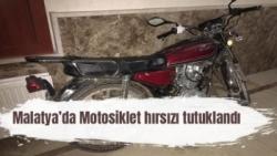 Malatya'da Motosiklet hırsızı tutuklandı