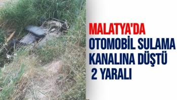 Malatya'da Otomobil sulama kanalına düştü