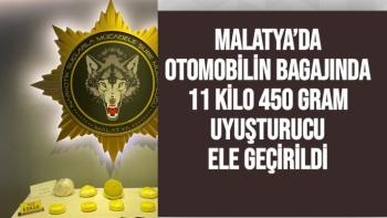 Malatya'da Otomobilin bagajında 11 kilo 450 gram uyuşturucu ele geçirildi