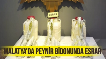 Malatya'da Peynir bidonunda esrar