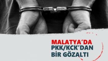 Malatya'da PKK/KCK´dan bir gözaltı
